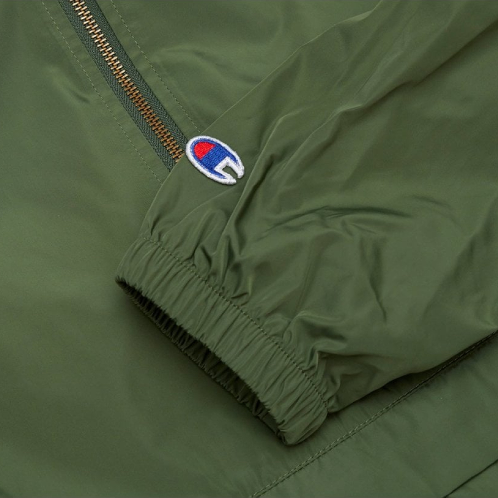 Champion-Reverse-Weave-Windbreaker-Olive-4