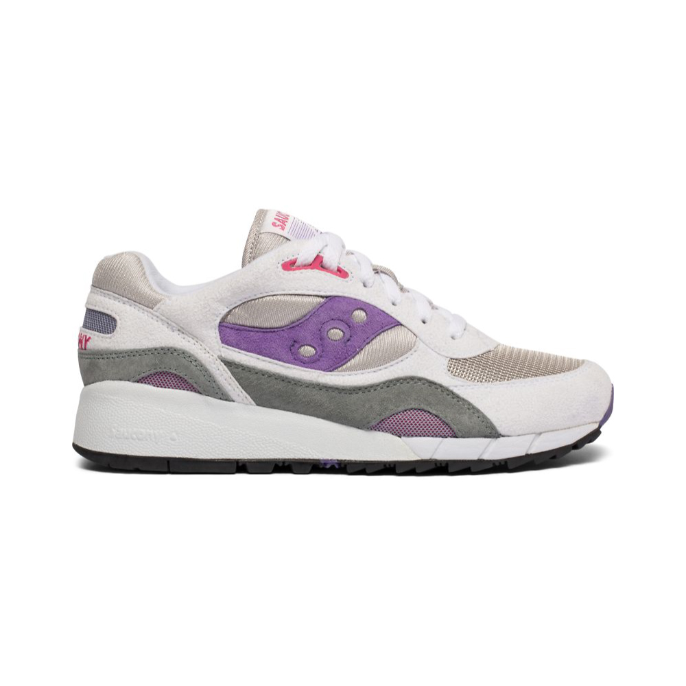 a567b0911bc1 Saucony Shadow 6000 - White   Purple - Gent Street Sneakers